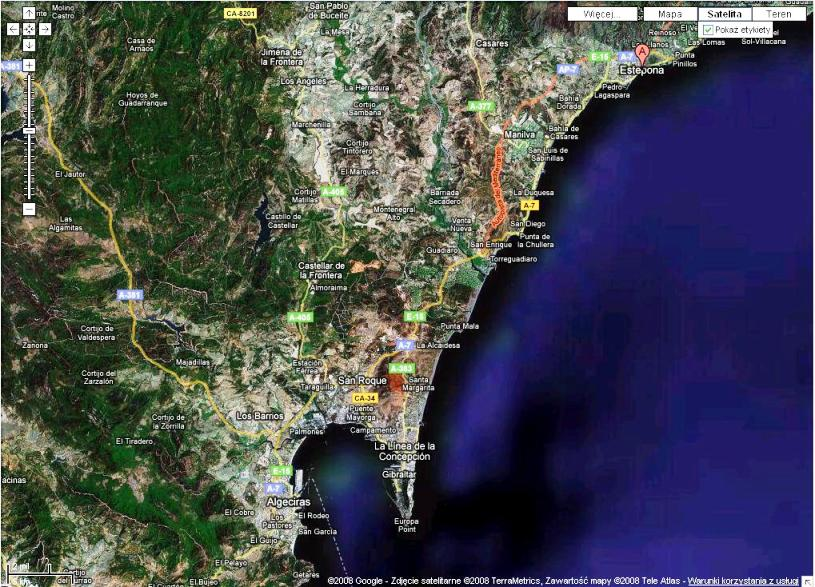 Estepona - Andalusia, Spain by Google Maps