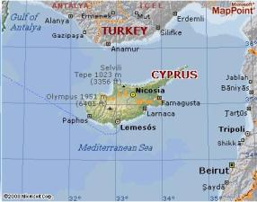 Cyprus by MSN Maps